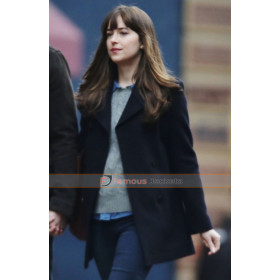 Dakota Johnson Fifty Shades Darker Black Coat