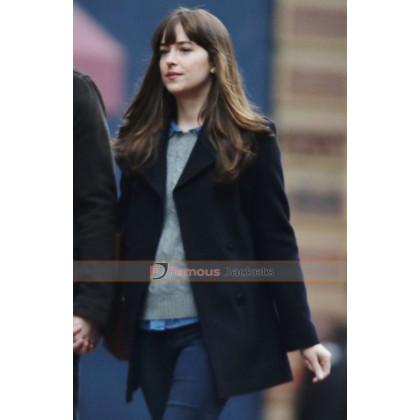 Dakota Johnson Fifty Shades Darker Black Coat