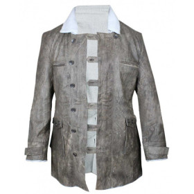Bane Dark Knight Rises Grey Shearling Coat