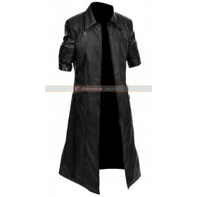 Devil May Cry 4 Dante Black Trench Leather Coat