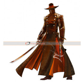 Red Steel 2 Last Kusagari Swordsman Trench Leather Coat