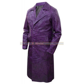 Jared Leto Suicide Squad Joker Crocodile Trench Coat