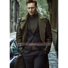 Tom Hiddleston Trench Leather Coat