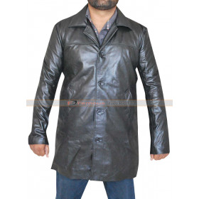 Training Day Denzel Washington (Alonzo Harris) Black Leather Coat
