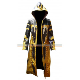 WWE Goldust Hooded Trench Leather Coat