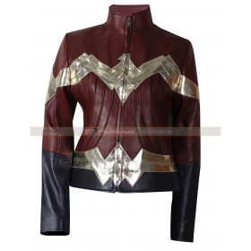 Diana Prince Wonder Woman Leather Jacket