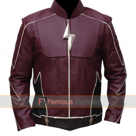 The Flash Jay Garrick Cosplay Leather Jacket Costume