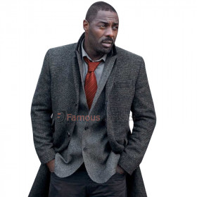 John Luther TV Series Idris Elba Trench Coat
