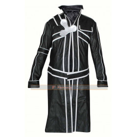 Sword Art Online Infinity Moment Kirito Black Jacket Cosplay Costume