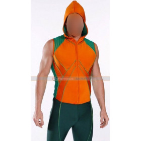 Aquaman Smallville Hoodie Costume Leather Vest