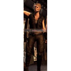 Sonya Blade Mortal Kombat X Black Leather Vest Costume