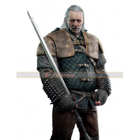 Vesemir Witcher 3 Wild Hunt Game Leather Costume