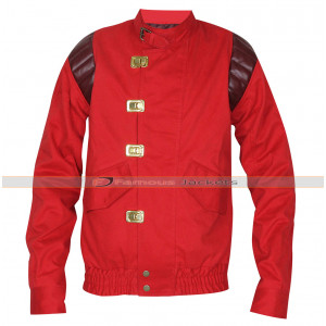 Akira Shotaro Kaneda Capsule Logo Red Cotton Jacket