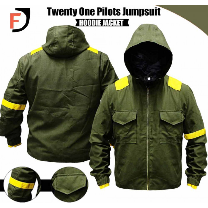 bb64ef4f2a6ba Twenty One Pilots Tyler Joseph Storm Again Jumpsuit Green Cotton ...