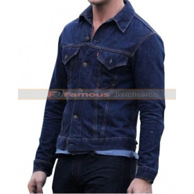 Ryan Gosling Drive Blue Denim Jacket