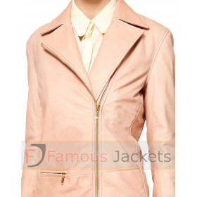 Sara Berman Edie Pink Leather Jacket