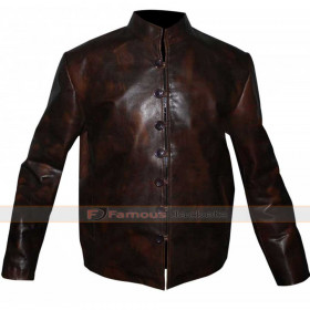Leonardo Da Vinci's Demons Tom Riley Distressed Leather Jacket
