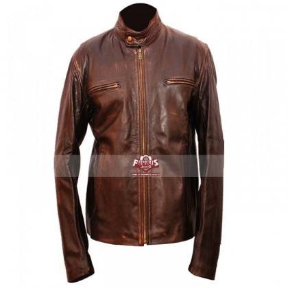 Mark Wahlberg Contraband Distressed Leather Jacket