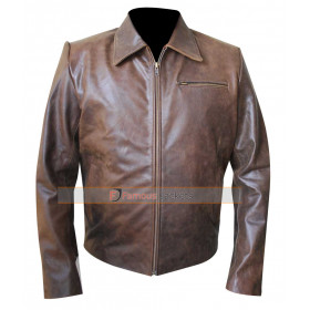 Eddie Walze Nurse Jackie Paul Schulze Brown Distressed Jacket