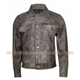 Mens Maverick Rustic Distressed Leather Jacket