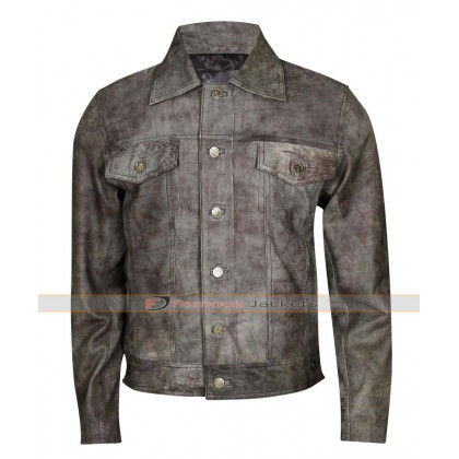 Mens Maverick Rustic Distressed Leather Jacket