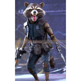 Galaxy Vol 2 Rocket Raccoon Blue Leather Vest