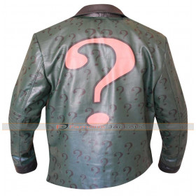 Batman Arkham City Riddler Costume Leather Jacket