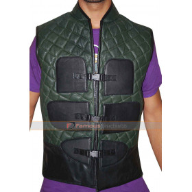 Mortal Kombat X Johnny Cage Quilted Leather Vest Costume