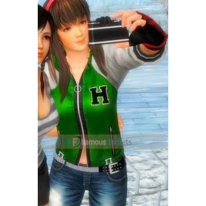 Dead or Alive 5 Ultimate Green Bomber Hitomi Jacket Costume Sale