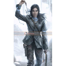Rise Of The Tomb Raider Lara Croft Leather Costume Jacket