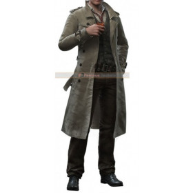 The Evil Within Sebastian Castellanos Trench Coat Costume