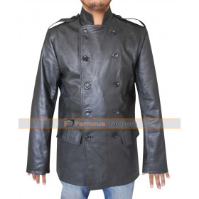 The Green Hornet Kato (Jay Chou) Black Leather Jacket Costume
