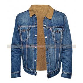 Nick Robinson Love Simon Denim Fur Jacket