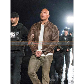Dwayne Johnson (Davis Okoye) Rampage Distressed Leather Jacket