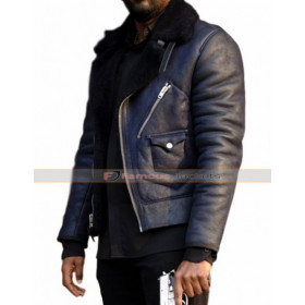 Ashley Thomas 24 Legacy Isaac Carter Black Leather Jacket