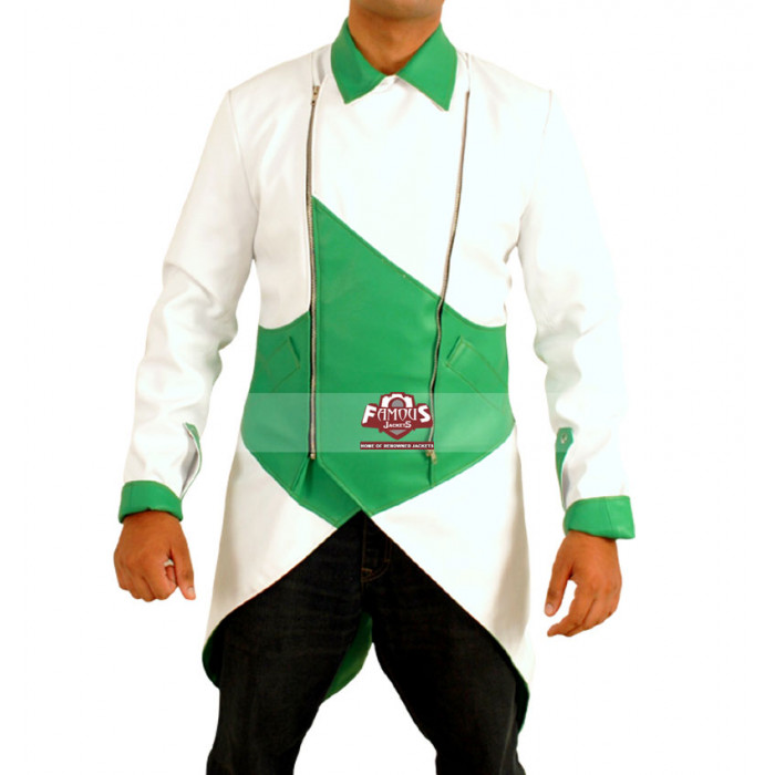 Assassin S Creed 3 Connor Kenway Green White Faux Jacket Costume