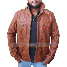 Dead Rising Watchtower Jesse Metcalfe Brown Biker Leather Jacket