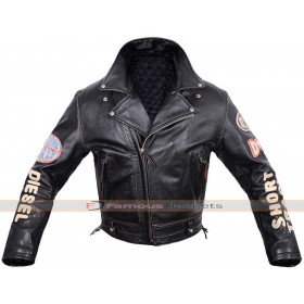 Diesel Leather Pilot Flying Vintage Biker Jacket