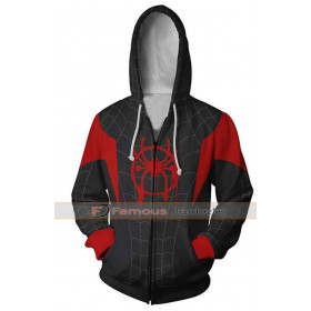 Spiderman Into The Spider Verse Cosplay Hoodie