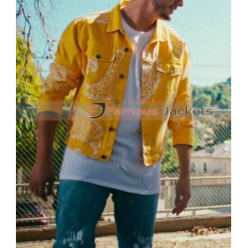 A Different Way DJ Snake Yellow Denim Jacket