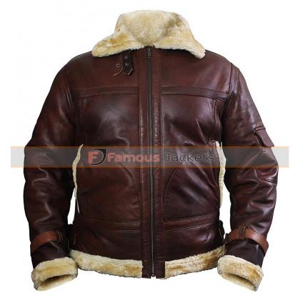 Men's B3 Shearling Sheepskin Bomber Leather Jacket