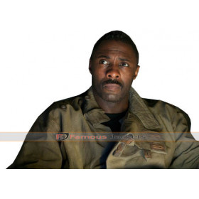 Captain Janek Prometheus Idris Elba Leather Jacket