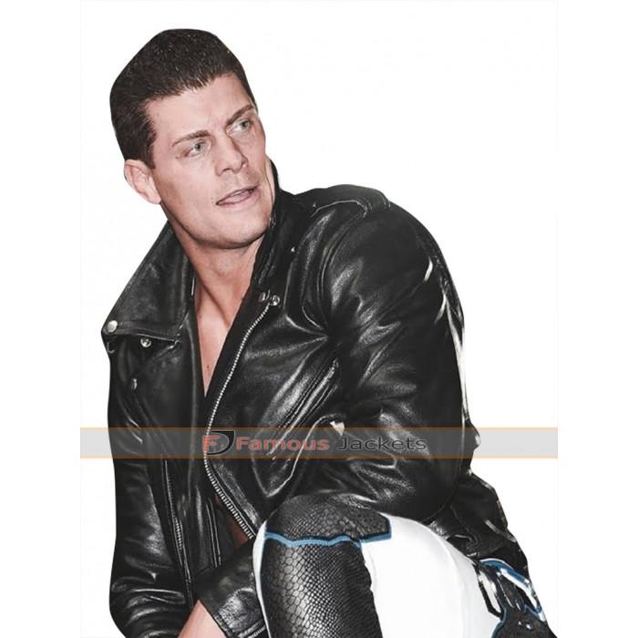Cody Rhodes Biker Leather Jacket