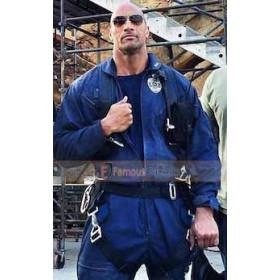 San Andreas Dwayne Johnson (Ray) Blue Pilot Jacket