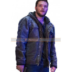 Jack Reynor Kin 2018 Jimmy Solinski Cotton Hoodie Grey Jacket