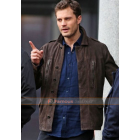 Fifty Shades Darker Jamie Dornan Brown Jacket