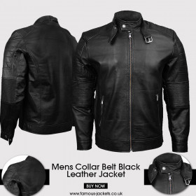 Mens Quilted Bomber Black Leather Jacket UK