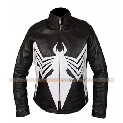 Tom Hardy Venom Eddie Broke Black Leather Jacket