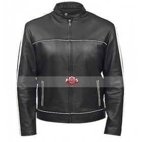 Classic Black Denver Men's Leather Jacket