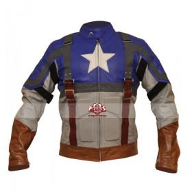 Chris Evans Captain America Leather Jacket Costume